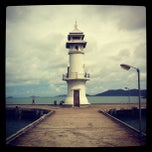 Photo taken at ประภาคารบางเบ้า (Bang Bao Lighthouse) by BoRn S. on 8/26/2012