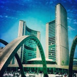Photo taken at Nathan Phillips Square by Anil P. on 4/20/2012