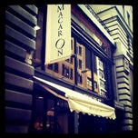 Photo taken at MacarOn Cafe by Rachael A. on 5/4/2012