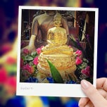Photo taken at Wat Santiwongsaram by Artit c. on 4/15/2012