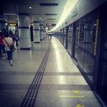 Photo taken at 上海体育馆地铁站 | Shanghai Indoor Stadium Metro Stn. by Daniel Q. on 6/14/2012