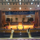 Photo taken at 연세대학교 대강당 (Yonsei University Main Auditorium) by Seok su L. on 2/27/2012