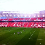 Photo taken at Rio Tinto Stadium by John Y. on 8/22/2012