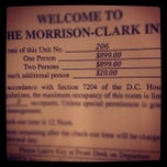 Photo taken at Morrison Clark Inn by Greg B. on 5/11/2012