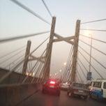 Photo taken at 6th October Bridge by Ayman E. on 7/10/2012