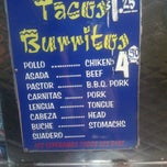 Photo taken at El Ranchito Taco Truck by Andrew Q. on 8/8/2012