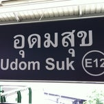 Photo taken at BTS อุดมสุข (Udom Suk) E12 by Piak P. on 4/23/2012