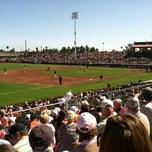 Photo taken at Scottsdale Stadium by Chelsea V. on 3/3/2012