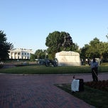 Photo taken at Andrew Jackson Statue by Ted E. on 6/28/2012