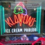 Photo taken at Klavon's Ice Cream Parlor by Chuck R. on 5/31/2012