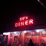 Photo taken at 50's Diner by Mark R. on 9/1/2012