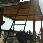 Photo taken at Lido Beach Spiaggia Libera Lido Di Camaiore by Federica B. on 8/22/2012