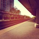 Photo taken at Metra - Evanston (Davis Street) by Leslie R. on 5/9/2012