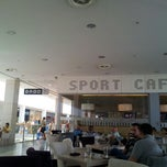 Photo taken at Sport Cafe, Delta City by Aleksandr Z. on 8/6/2012