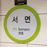 Photo taken at 서면역 (Seomyeon Stn.) by KJ on 6/10/2012