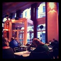 Photo taken at Vooruit Café by Matthias D. on 2/14/2012
