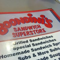 Photo taken at Boondini's Sandwich Superstore by Tylor D. on 2/27/2012