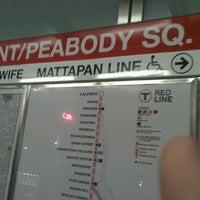 Photo taken at MBTA Ashmont/Peabody Square Station by Kim D. on 10/23/2011
