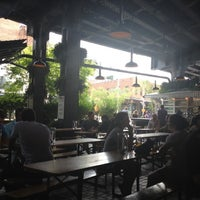 Photo taken at The Biergarten at The Standard by chip w. on 8/17/2012