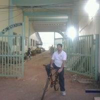 Photo taken at Jawaharlal Nehru Stadium by Jerry J. on 12/14/2011