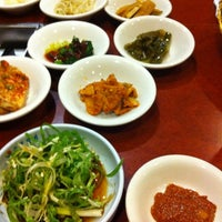 Photo taken at Soowon Galbi by Steph L. on 1/23/2012