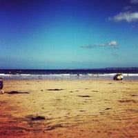 Photo taken at Towan Beach by Phil M. on 9/5/2012