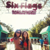 Photo taken at Six Flags Hurricane Harbor by Kali R. on 7/10/2012