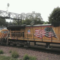 Photo taken at Rochelle Railroad Park by Mark R. on 9/4/2012