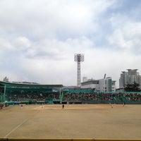 Photo taken at Cheongju Baseball Stadium by Yangcho J. on 3/25/2012