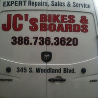 Photo taken at JC's Bikes and Boards by Wendy on 6/9/2012