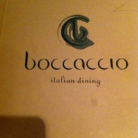 Photo taken at Boccaccio by Fahad T. on 2/12/2012