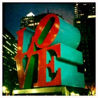 Photo taken at JFK Plaza / Love Park by Tom R. on 3/2/2012