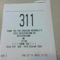 Photo taken at McDonald's by Erik W. on 2/3/2014