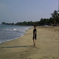 Photo taken at Pantai pasir putih anyer by Manda R. on 10/10/2012