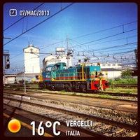 Photo taken at Stazione Vercelli by Roberta B. on 5/7/2013