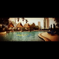 Photo taken at Swimming Pool - The Ritz Carlton 5th Floor Kuningan by Rama L. on 10/9/2012