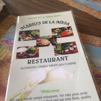 Photo taken at Mario's De La Mesa Restaurant by Zach S. on 10/3/2014