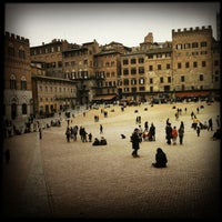 Photo taken at Piazza del Campo by rob z. on 4/1/2013