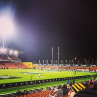 Photo taken at Waikato Stadium by Kieran B. on 7/4/2014