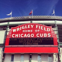 Photo taken at Wrigley Field by Christopher L. on 9/27/2013