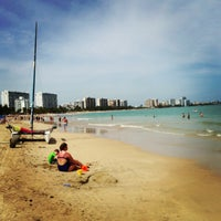 Photo taken at Isla Verde Beach - Balneario Isla Verde (La Playa) by Steve M. on 3/11/2013