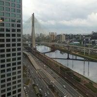 Photo taken at Ponte Octávio Frias de Oliveira (Ponte Estaiada) by Hugo M. on 9/25/2012