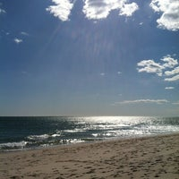 Photo taken at Ponquogue Beach by Michael C. on 3/30/2013
