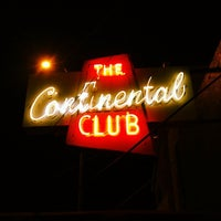 Photo taken at The Continental Club by Charles M. on 3/11/2013