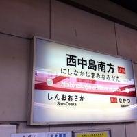 Photo taken at Nishinakajima-Minamigata Station (M14) by BONDOUT55 on 11/25/2012