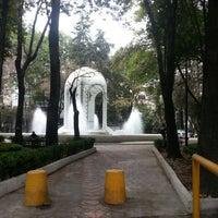 Photo taken at Parque México by Nardiuxxer O. on 4/11/2013