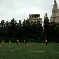 Photo taken at Футбольное поле МГУ by Alexander M. on 8/24/2013