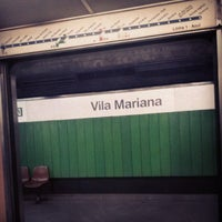 Photo taken at Estação Vila Mariana (Metrô) by Luis G. on 7/3/2013