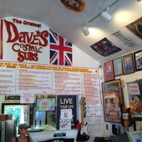 Photo taken at Dave's Cosmic Subs by Julie C. on 7/11/2014