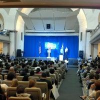 Photo taken at Boston University Morse Auditorium (BU Morse) by David M. on 9/15/2012